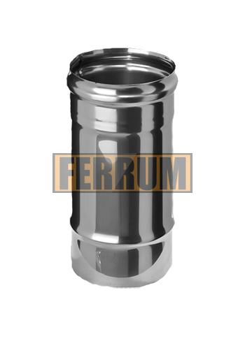 Труба-Дымоход (нерж.ст. 0,5 мм) ф 80 х0,25м