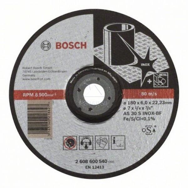 Круг шлифовальный ф180х6,0х22 для нержавейки (1/10) BOSCH 2 608 600 540
