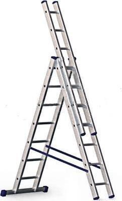 Лестница трехсекционная 3х 18 ступеней профессиональная Алюмет Р39318