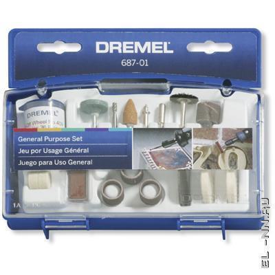 Набор оснастки Dremel (для дома) № 687 Dremel 2 615 068 7JA