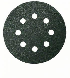 Шлифкруг ф125 на липкой основе 8 отверстий для камня k1200 ( 5шт) BOSCH 2 608 605 123