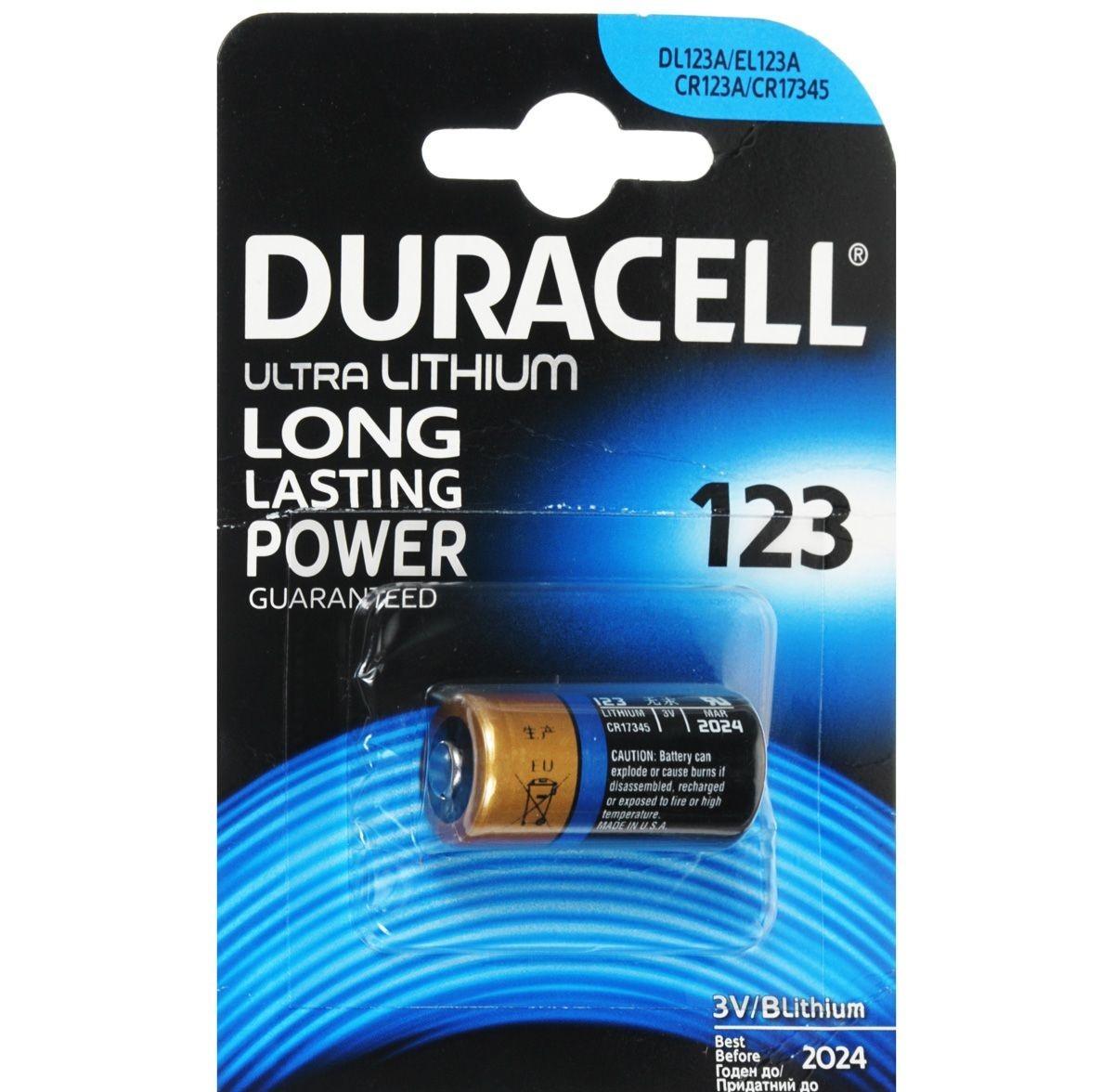 Батарейка 3V 123 B1 Duracell 75058646