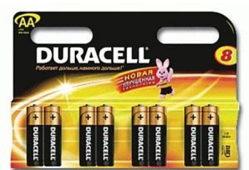 Батарейка AAA MN2400 К8 8шт Duracell 81422470