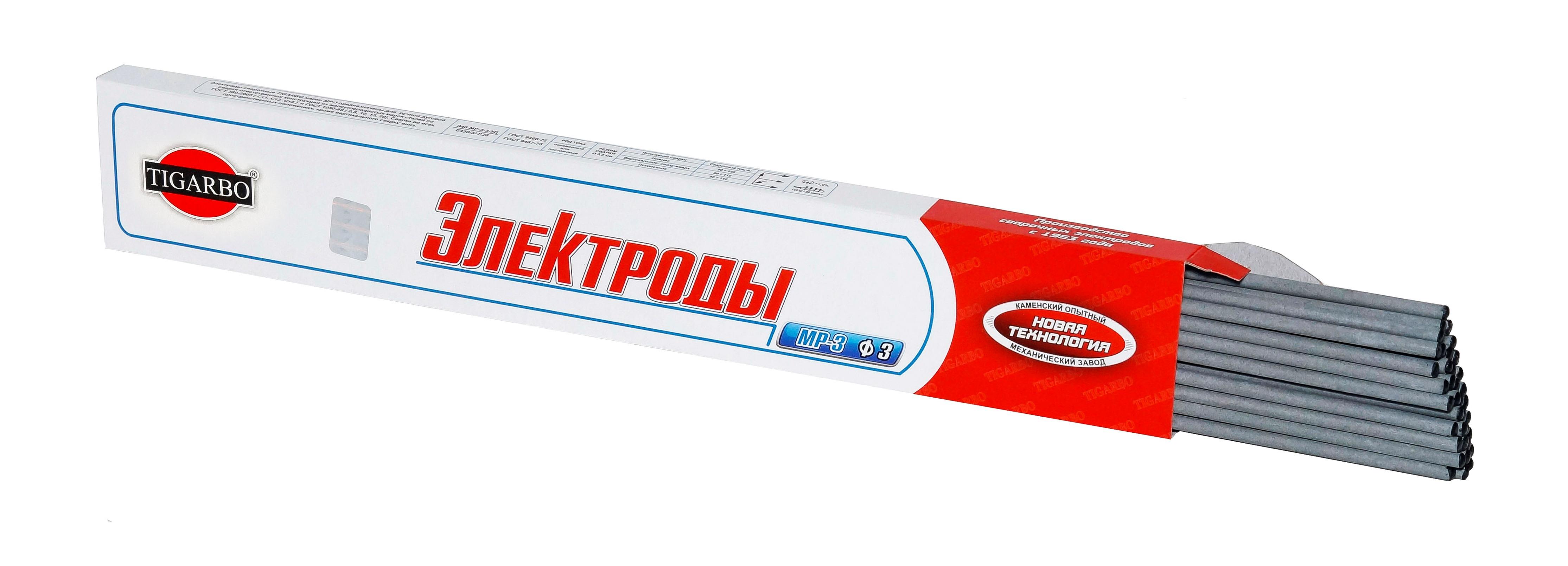МР-3С ф3 (пачка 1 кг) Сварочные электроды МР-3С ф3 (пачка 1 кг) TIGARBO