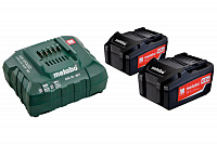 Аккумулятор Metabo 18 В Basic-Set 4.0 2 x 4,0Ah + ASC 30-36 (685050000)