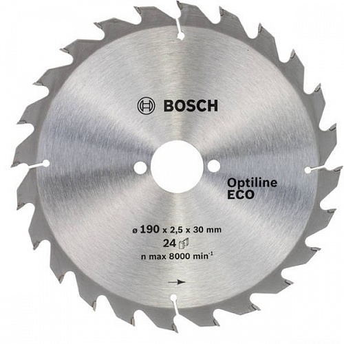 Диск пильный ф230х30 z24 Optiline Wood Eco BOSCH 2 608 641 793