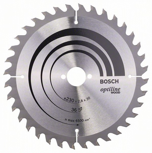 Диск пильный ф230х30 z36 Optiline Wood BOSCH 2 608 640 628