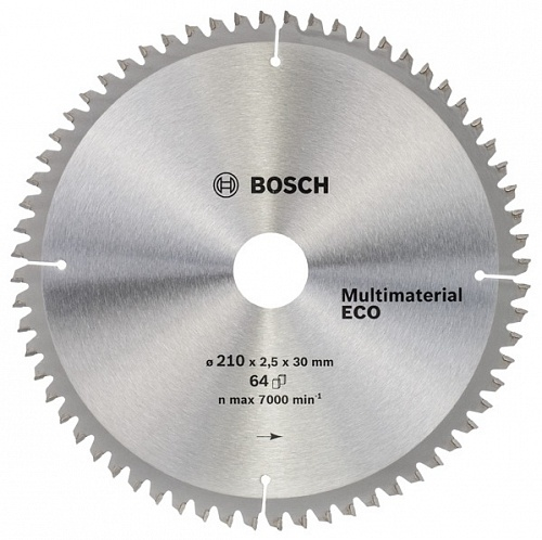 Диск пильный ф210x30 z64 Multimaterial Eco BOSCH 2 608 641 803